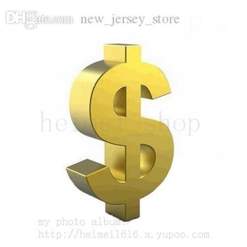 Zusätzliche Gebührenkosten nur für das Gleichgewicht der Bestellung anpassen personalisierte benutzerdefinierte 2021 New Jersey Produkt zahlen zusätzliches Geld 1 Stück = 1usd schneller Versand