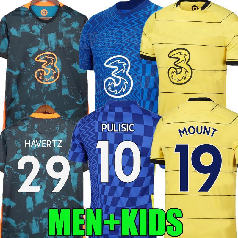 20 21 22 22 CFC Werner Havertz Finals Chelsea futebol jerseys jogador t.silva abraham chilwell ziyech futebol camisa pulisica camiseta 2021 2022 kante montar homens kit kids kit