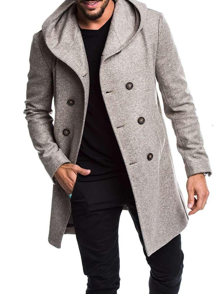 رجل الشتاء الصوف معطف الخريف رجل طويل خندق معطف القطن عارضة الصوف الرجال معطف رجل معاطف والسترات الآسيوية S-3XL