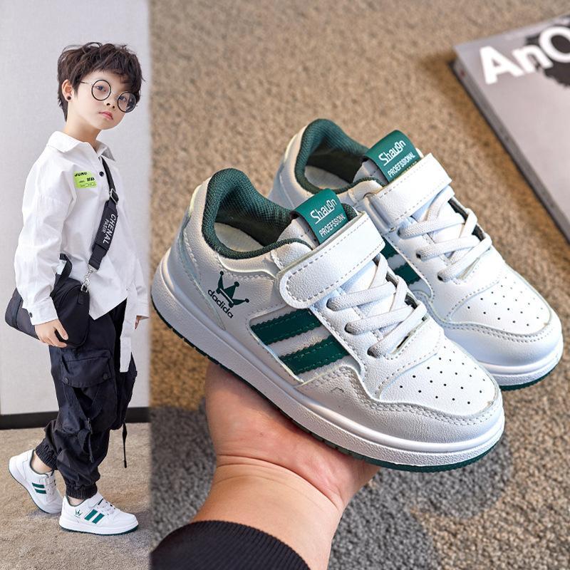 2021 Весна и осень Новые Спортивные мальчики Случайные Универсальные Моды Маленькая Белая Детская Доска Девочки Обувь