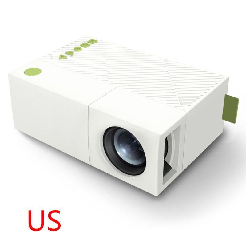 YG310 مصغرة المحمولة جهاز الإسقاط المسرح المنزلي 1080P عالية الوضوح HD الصمام ضوء العارض المنزل الترفيه لعبة متعاطي المخدرات