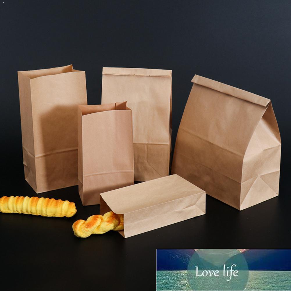 50 adet Şeker Parti Hediye Düğün Gıda Büfe Kağıt Torba Kahverengi Çanta Kahverengi Kağıt Ambalaj Çerezler Çanta Hediye Paketi Kraft Kraft O8W3