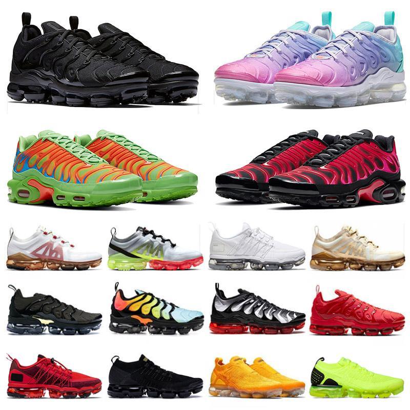 2020 أحذية PLUS tn Stock x Shoes حجم كبير 47 laceless FLYKNIT 2019 Run Utility جديد رجالي احذية الجري باستيل مصمم أحذية رياضية المدربين