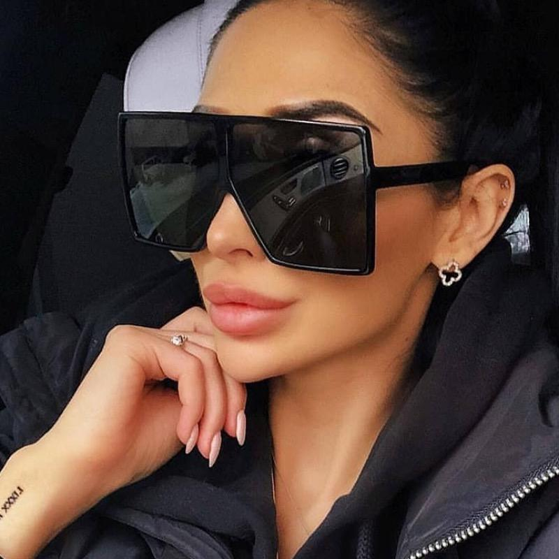 39 Colors Oversized Sunglasses Big Women Fashion Sun Glasses For Woman And Men PC Square Frame Metal Hinge