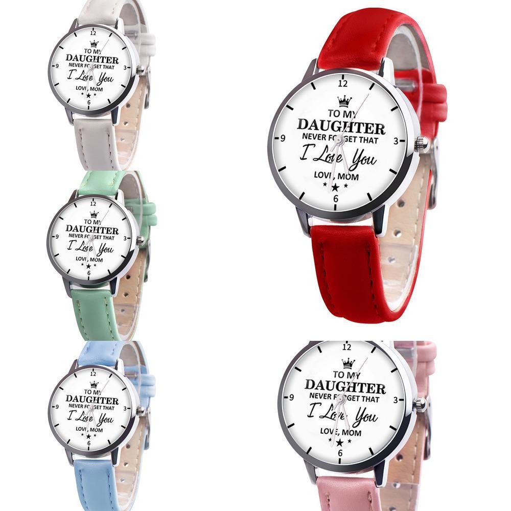 À mon fils, je t'aime à jamais regarder à ma fille montres à poignet à quartz avec pendentif collier de charme 2 pièce ensemble père mère fête cadeau G21902