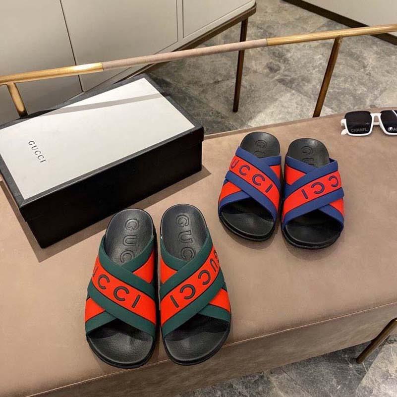 Luxo Flat Sandal Designer Designer Bordado Black Black Praia Raso Lazer Lazer Lace Caixa de Laço Conjunto completo de acessórios 35-44 Shoe008 1301
