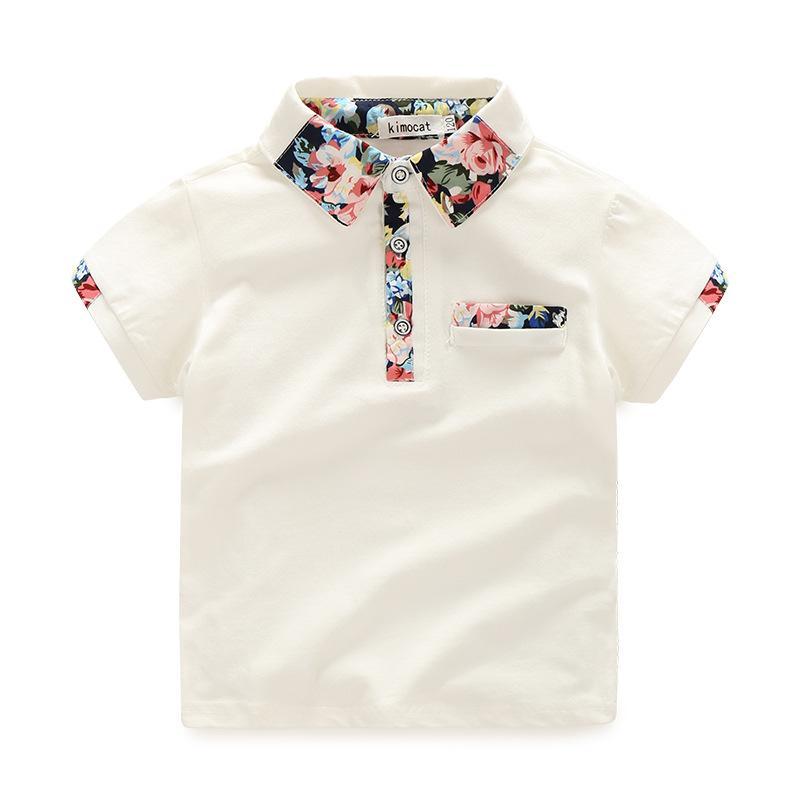 O hello zevk çocuk erkek giysileri erkek yaz giyim setleri kısa kollu baskı gömlek tops + çiçek şort suits çocuk giyim 2086 z2