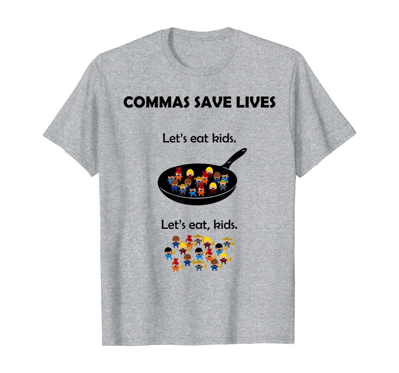 Comas salvar vidas gramática divertida camisa