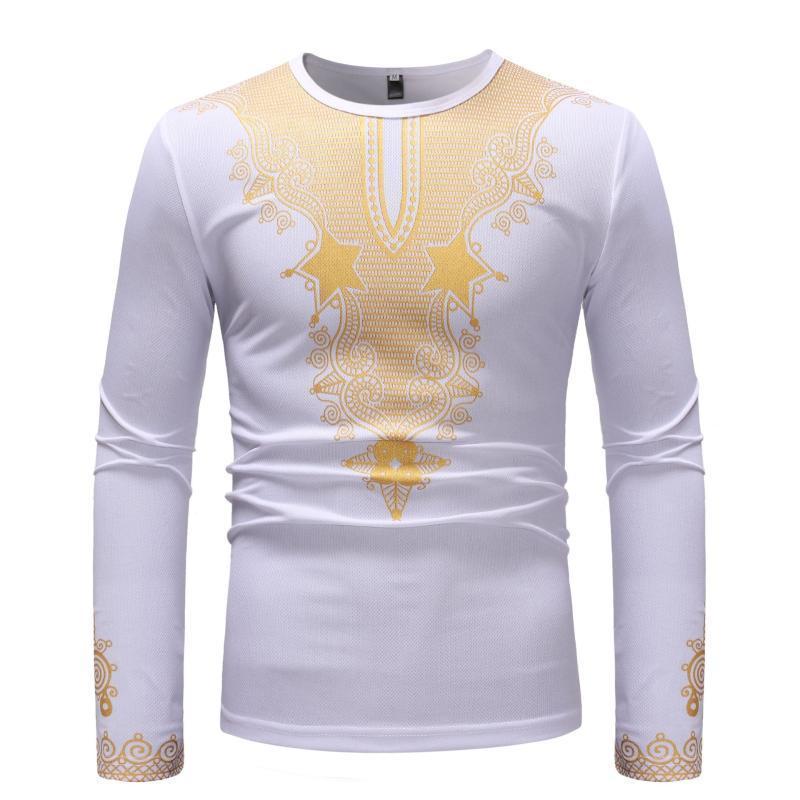 NOUVEAU Pull occasionnel à imprimé africain à imprimé africain à manches longues comme t-shirt de base vêtements ethniques