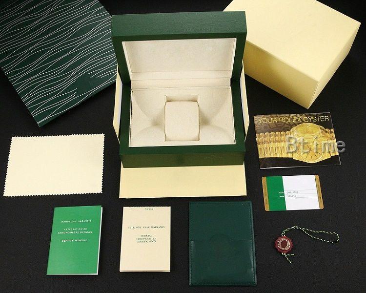 Hommes pour Boîtes de montre Rolex Boîtes de Wooden Oritannique Montres de Montres extérieures intérieures Original Papiers Sac cadeau Hommes Designer Montre-Bracelet Autoamtic Mouvement Montre-Bracelet Fashion