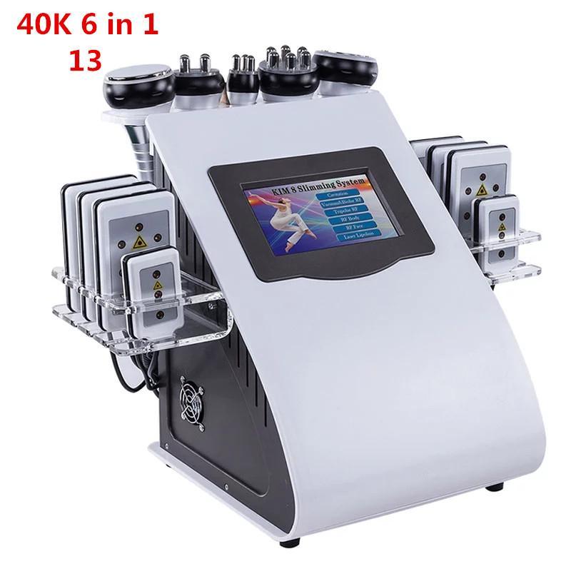 2021 أحدث آلة التجويف RF بالموجات فوق الصوتية فراغ آلة التخسيس الجسم RF الرئيسية استخدام سبا استخدام 6 مقابض مع منصات شفهية DHL