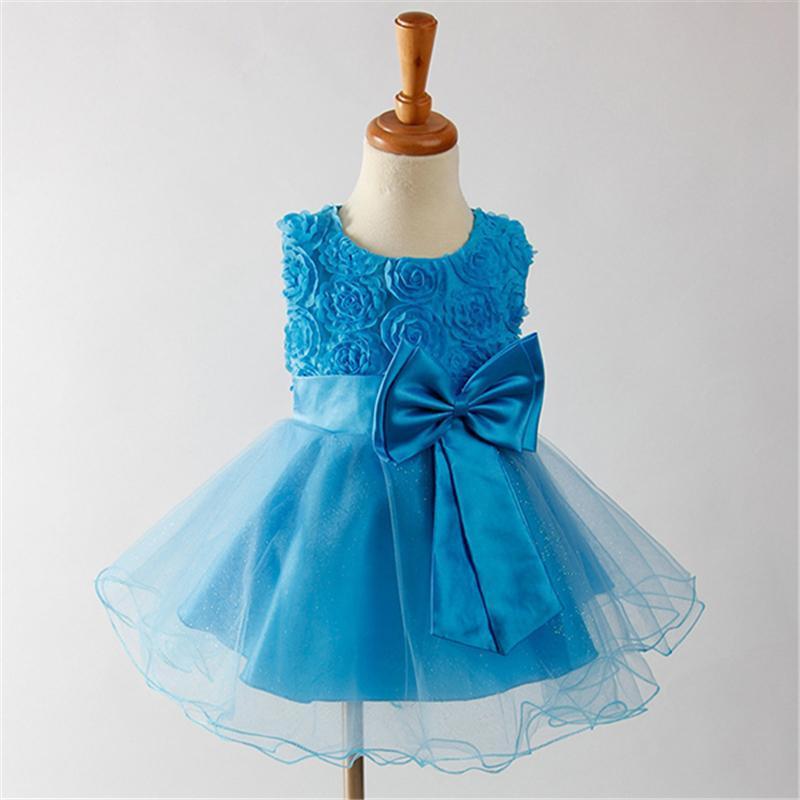 Girl's Dresses Baby Sweet Dreses Flower Girl Dress Summer Tutu Wedding Birthday Party For Girls Children's Clothing