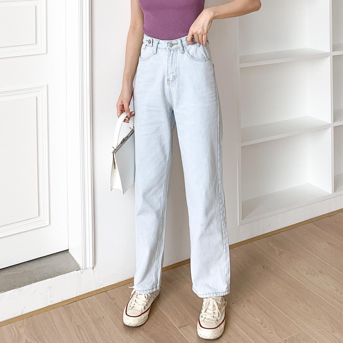 2021 mujeres calzones de invierno caliente pelo de cintura grueso dentro de la noventa longitud denim pantalones brem pantalón 8vcn