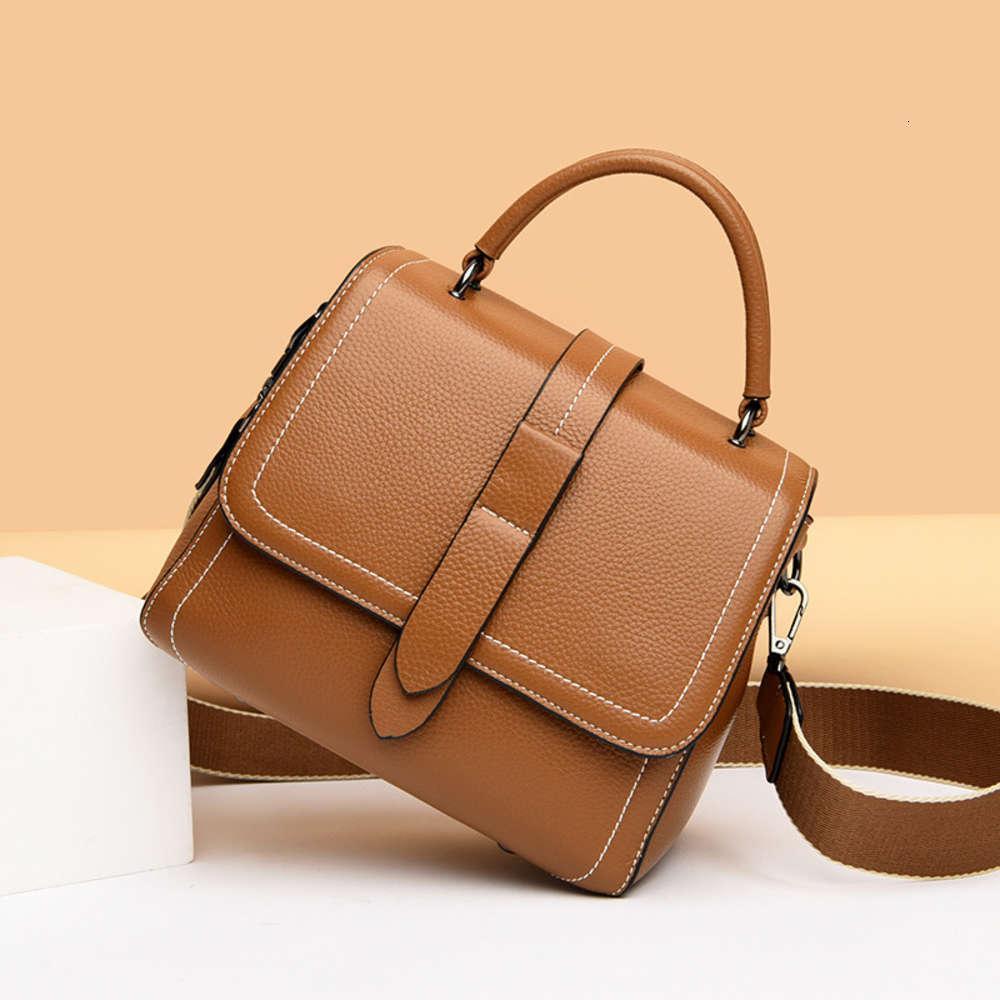 Bolso de las mujeres de cuero superior 2021 Nuevo Simple Single Single Diagonal Bag Cuero Madre Bolsa Versátil Moda Bolso de mano Batch