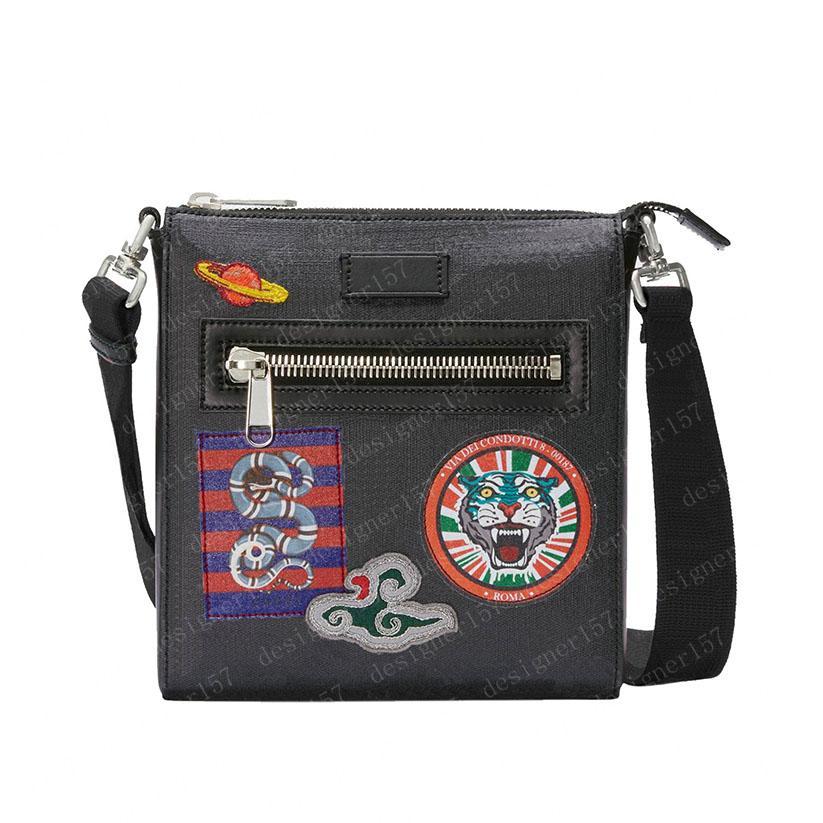 2021 남자 가방 크로스 바디 메신저 가방 크로스 바디 타이거 크로스 바디 가방 가죽 클러치 핸드백 패션 타이거 Sanke 21cm / 27cm # CX01