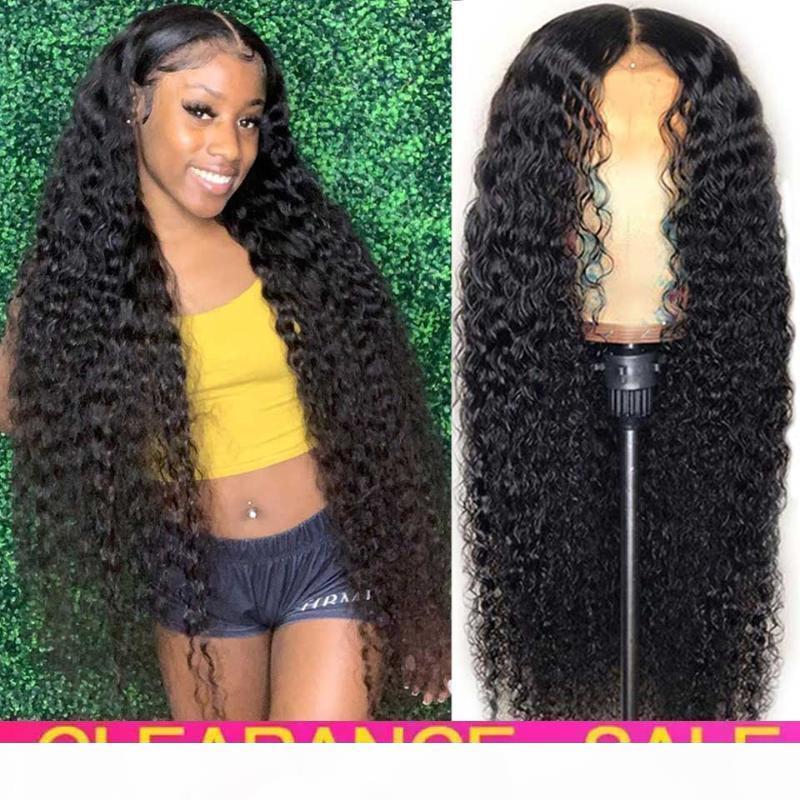 Дешево 180 плотности глубокой волны вьющиеся кружева фронта фронта HD прозрачная глубокая волна фронтальный парик Tpart Remy бразильский вьющиеся человеческие парики волос