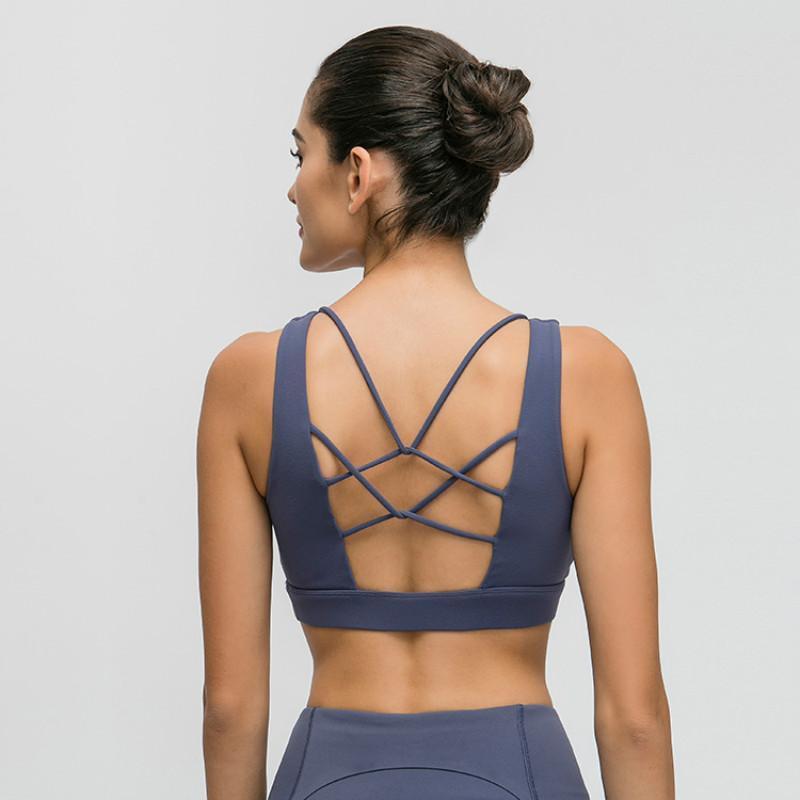 Nepoagym Lemon Esportes Sutiã Alto Impacto Escovado Feminino Mulheres Yoga Top Camisa Esportes Apoio Médio Mulheres Fitness Bra Gym