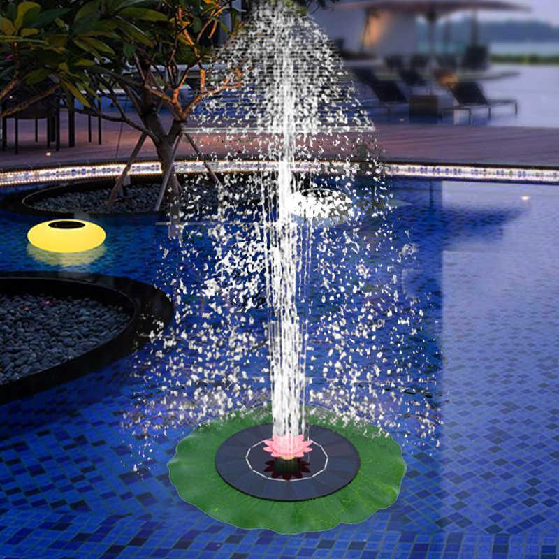 Solar Floating Fountain Yard Garden Water Fountain Pool Pond Decoration Solar Panel Powered Water Pump Patio Lawn Outdoor Decor 210712