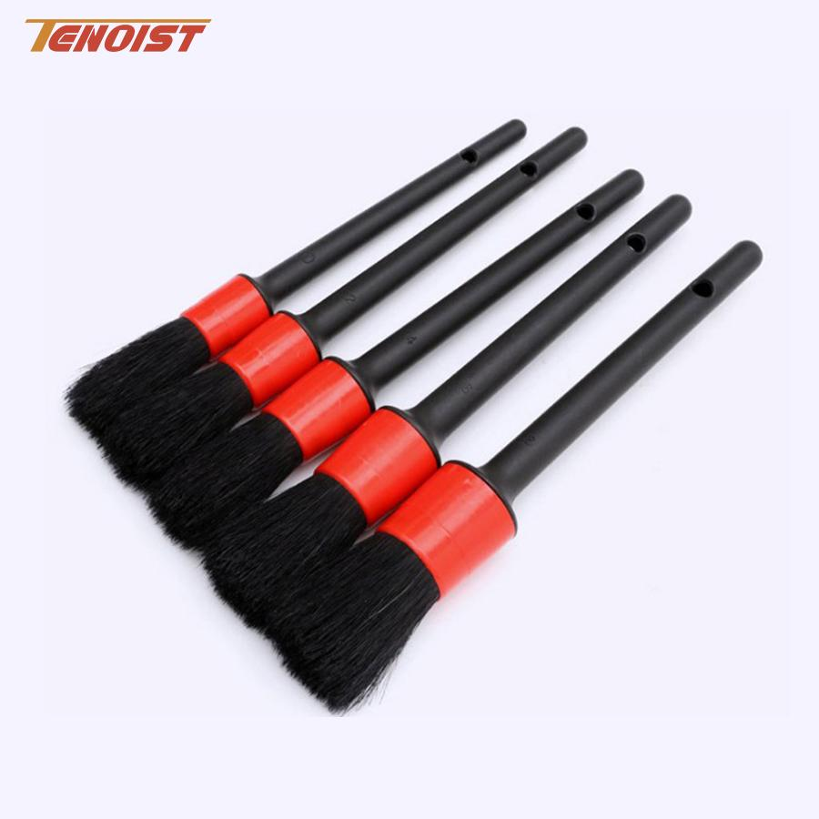 Durable Car SUV Truck Wheel Dashboard Gap Engine Headlight Interior Exterior Fiber Plastic Handle Detailing Cleaning Brush Tool Set
