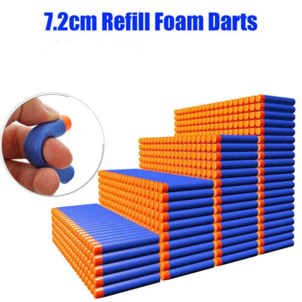 US Stock 7.2cm NERF N-Strike Elite Series Refill Blue Soft Foam Bullet Darts Gun Toy Bullet For Kids Toy Gun Blasters Gift