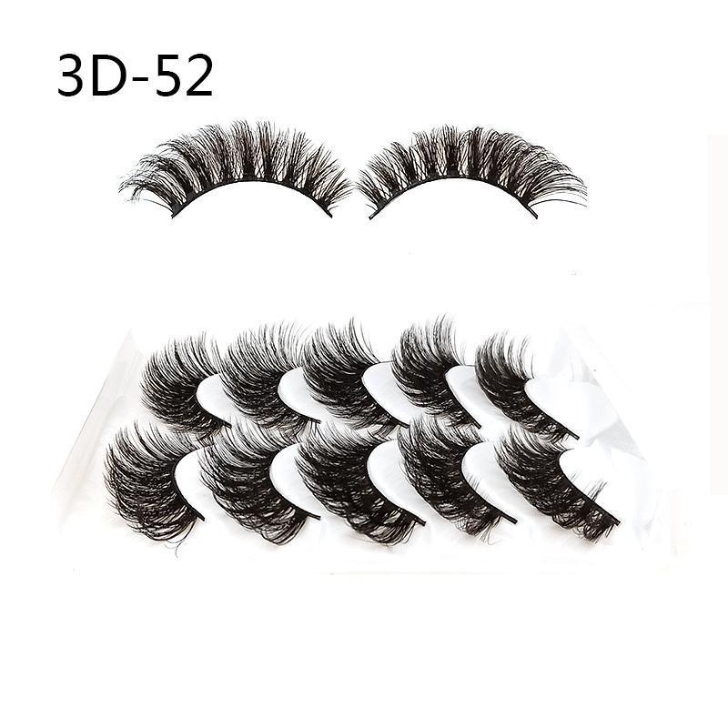 Europe and the United States 3D47-3D55 EYELASHES OF 5 Pairs 3D Fake Eyelashes Long Thick Natural False Eye Lashes Set Mink eyelash