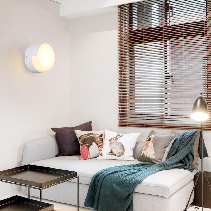 Wasserdichte Acryl Wandleuchte Wohnzimmer Schlafzimmer Korridor Gänge Innenhof Wandleuchte LED Modern Minimalistisches Quadrat Outdoor IP65 AC