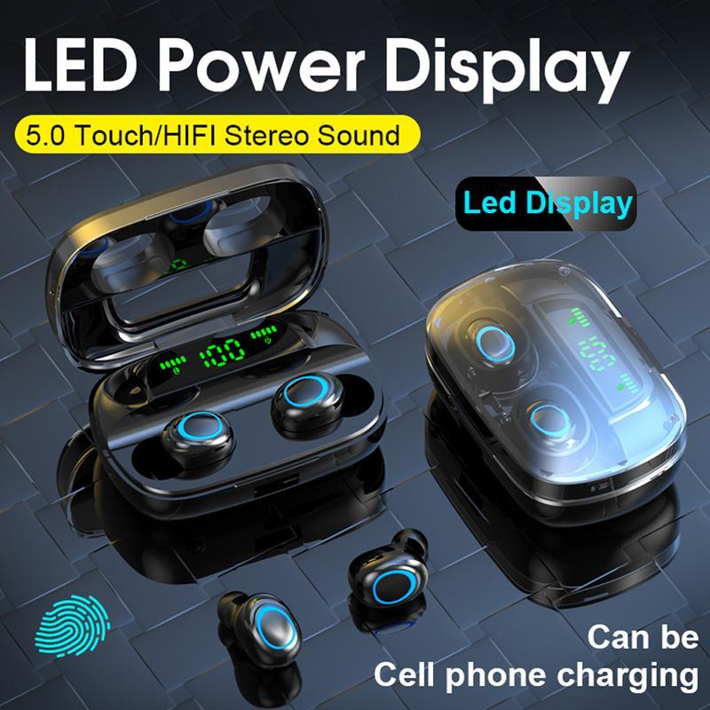 S11 TWS 5.0 سماعة بلوتوث 1200 مللي أمبير بقيادة سماعات لاسلكية سماعات سماعات سماعات يبرفيات لمسة التحكم الرياضية الضوضاء
