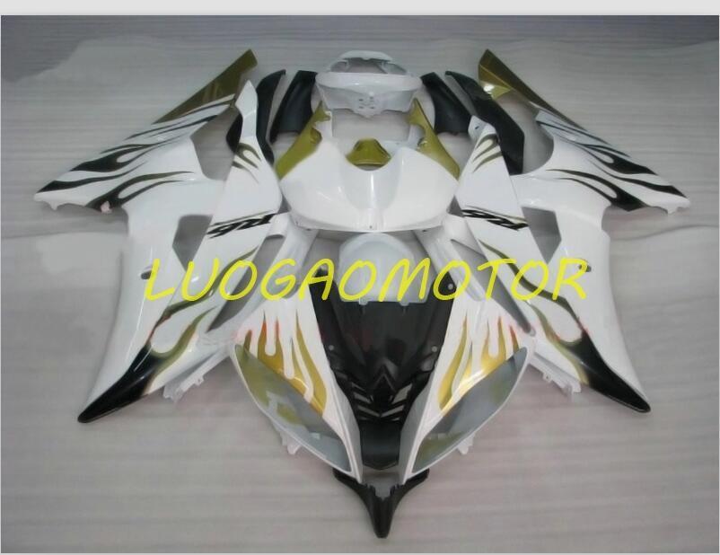 사출 금형 ABS 페어링 키트 Yamaha Yzfr6 YZF R6 2009 2010 2013 2015 2015-2010 2014 08 09 10 11 12 14 15 16 화이트 블랙 골드 보드