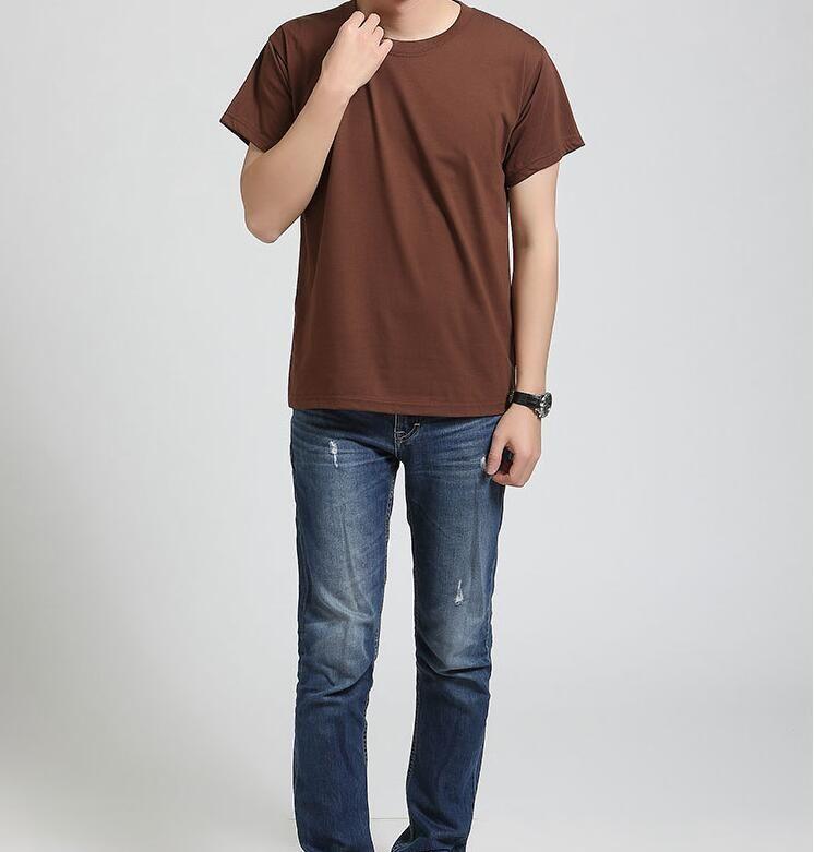 Hohe Qualität Männer Kleidung 2021 Neue Casual Herren Kurzarm Reine Farbe Weiß Schwarz Rot Lila Mode T-Shirt Größe XS-2XL