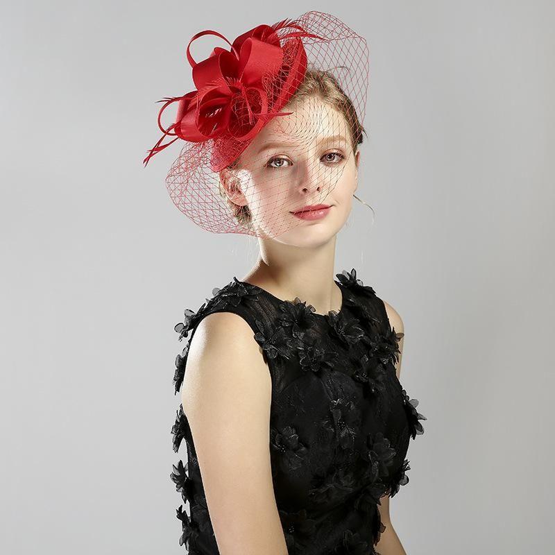 Bonnet / Crâne Caps Casquettes Kagenmo Femmes Porter Formelle Couverture Capuchon Dîner De Mariage Robe De Moitre Mode Veil Veil Style