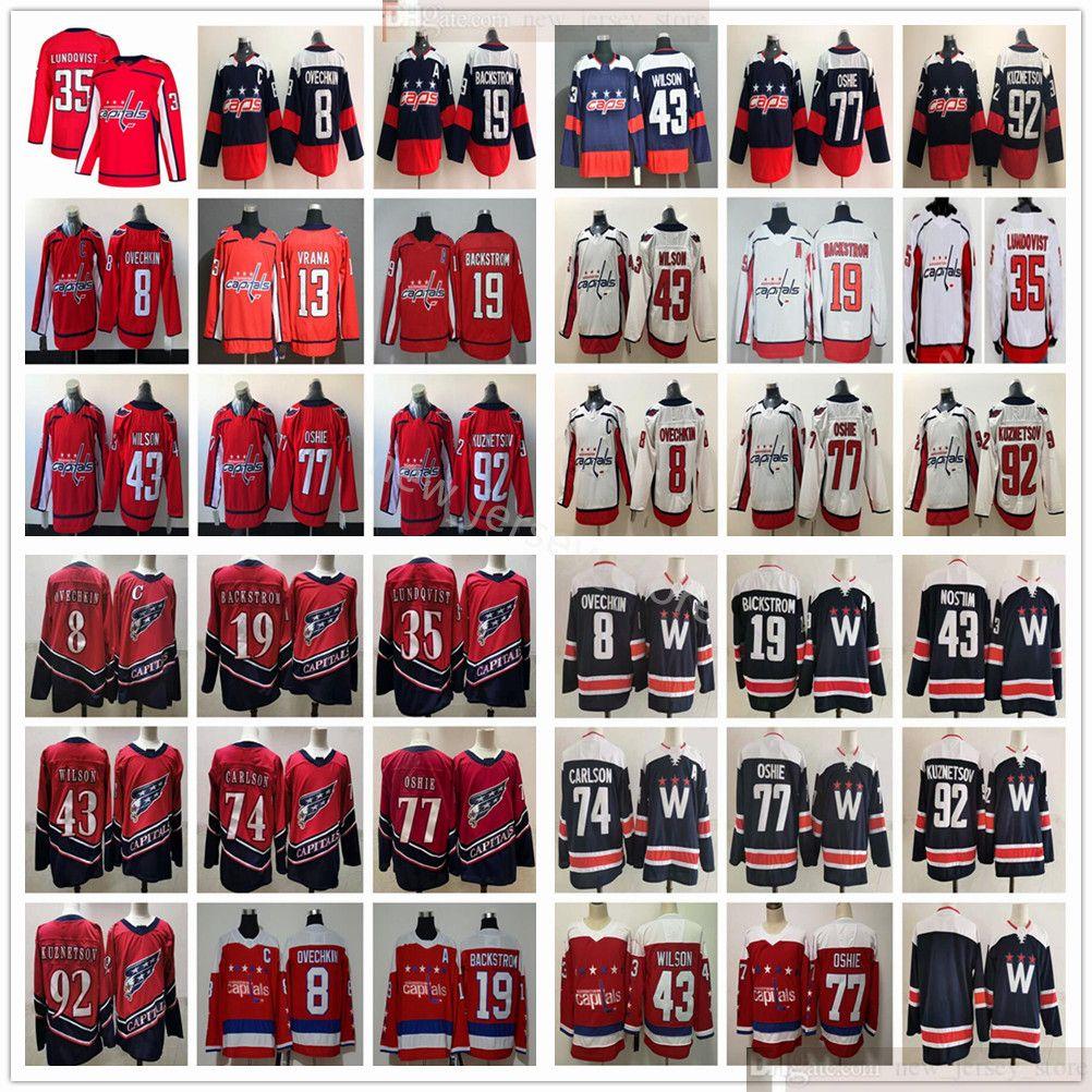 2021 Tercer Oscuro Hockey Jerseys Alex Ovechkin Jakub Vrana Nicklas Backstrom Henrik Lundqvist Tom Wilson John Carlson Oshie Evgeny Kuznetsov Jersey Retro Retro