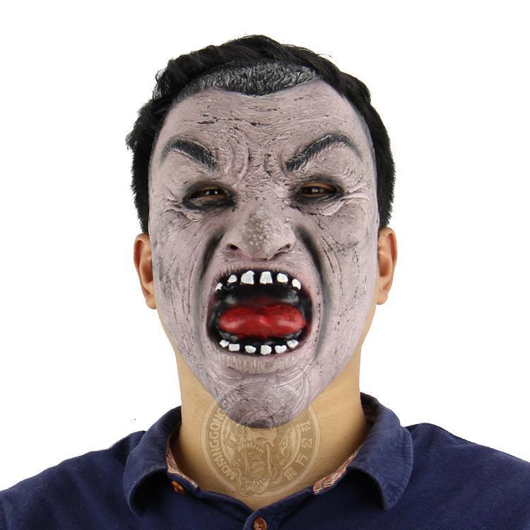 Hombre Nuevo Hot Adult Party Mask Black Face Horror Deark Disfraz de Halloween Vestido especial Horror