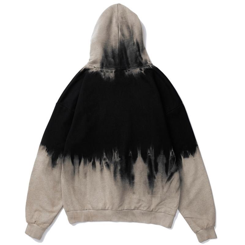 Laço tingido estilo vintage moletom moletom hip hop hop hop hujuku pulôver hoodies casuais casuais moda roupas hipster tops lj201222