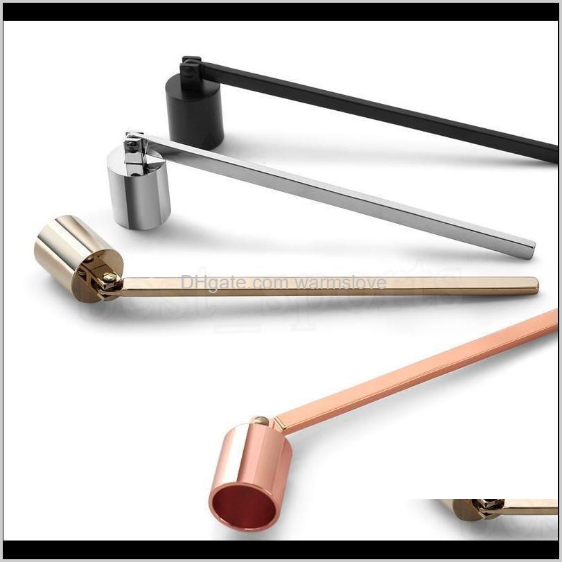 Vela de acero inoxidable Flame Snuffer Wick Trimmer Herramienta Multi Color Ponga Fuego en Bell Fácil de usar 0ASX8 CZ6GR