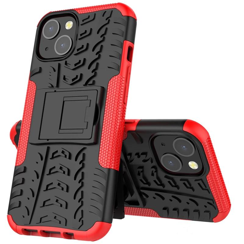 iPhone 6 7 8 Plus 160PCS / LOT用の1つのハイブリッドキックステンドインパクトの険しい頑丈なTPU + PCの衝撃防止ケースカバー