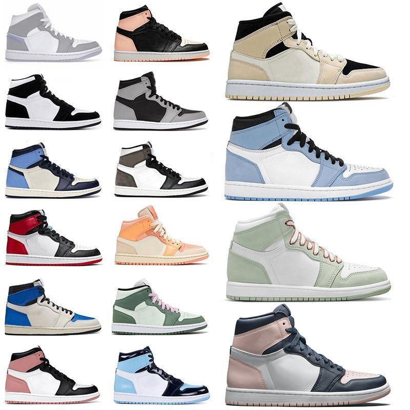 ayakkabı air jorden jordan retro 1 jordans mid milan 1s Basketbol ayakkabıları jumpman Erkek Kadın mocha obsidian unc low fearless high og spor ayakkabı eğitmenleri