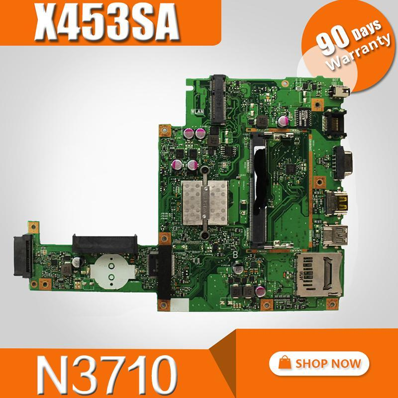 Motherboards X453SA Motherboard REV 2.0 N3710 For Asus Laptop Mainboard Test 100% OK