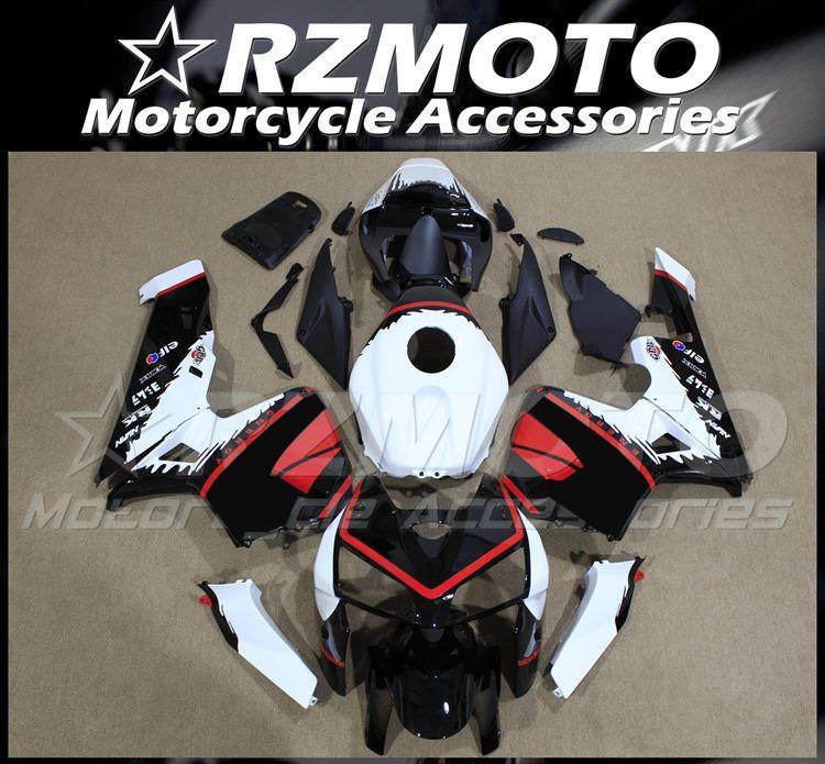 Инъекционные формы Новые обтекивающие комплекты ABS Подготовьтесь для Honda CBR600RR F5 2003 2004 CUDLEWORK SET BORIC BLACK RED