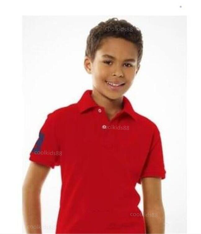 Мода дети поло футболка детей классический отворот с короткими рукавами детское поло футболка мальчики топы одежда футболки малыша 2-7T