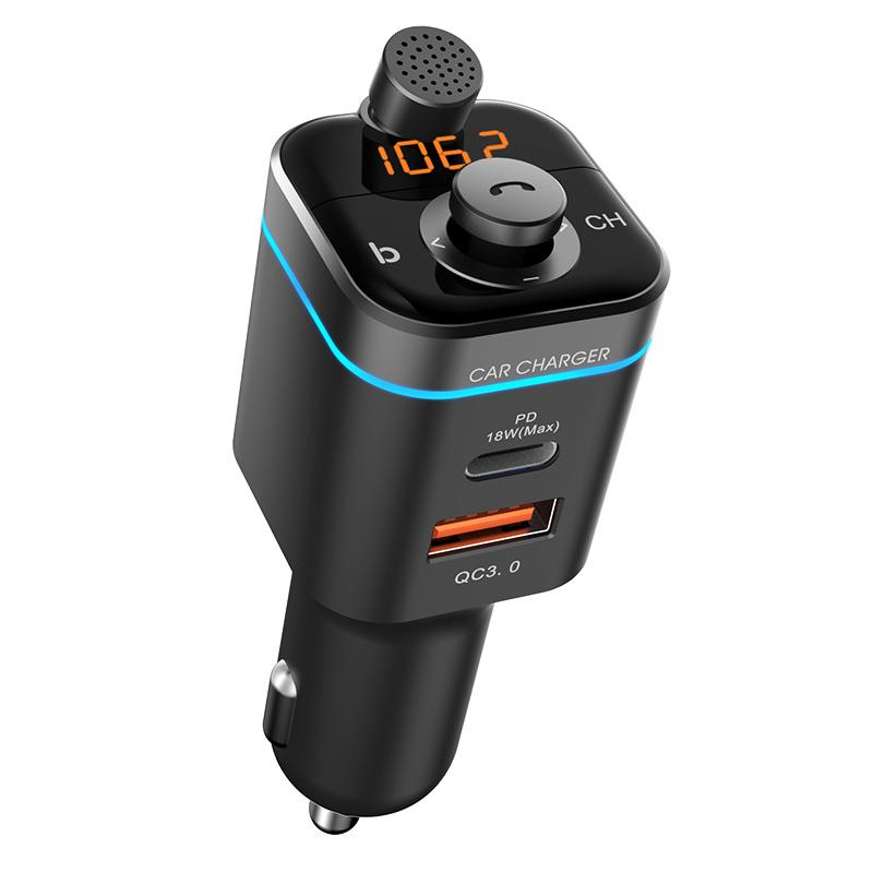 C72 CAR MP3 Player Bluetooth 5.0 Empfänger FM Sender PD18W USB-C Autoladegerät U Disk Music Phone Player