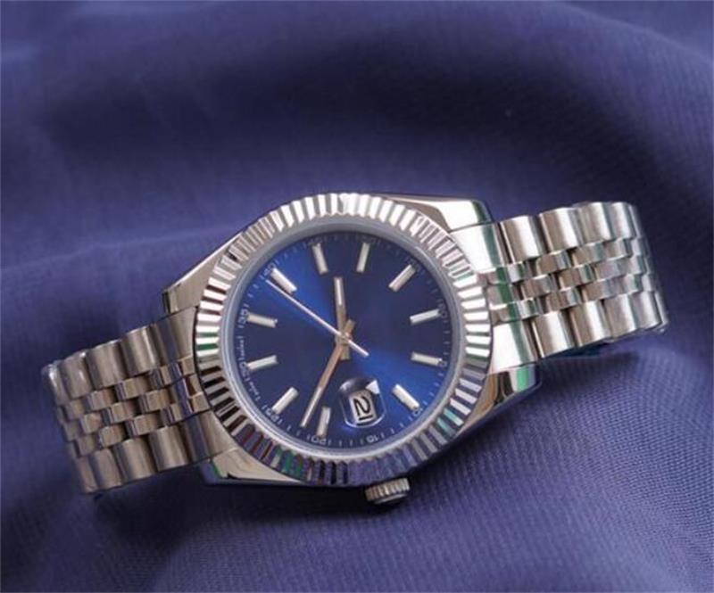 Синие роскошные мужские часы 41 мм часы из нержавеющей стали мужчины свидания 2813 Механическое автоматическое движение только президент дизайнерские наручные часы