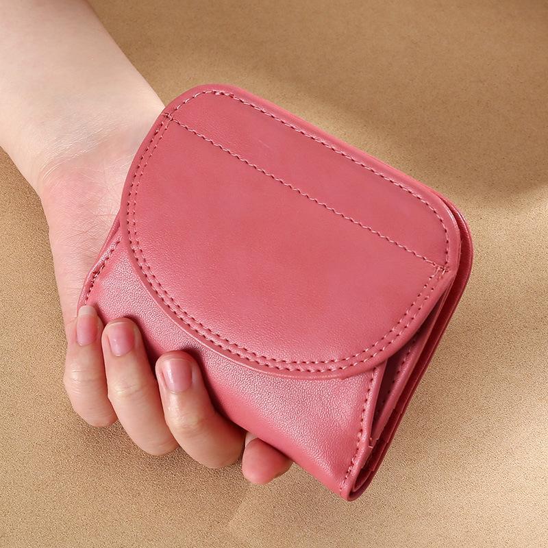 Mujer billetera pequeña corta corta cuero genuino billetera hembra hostp monedero monedero monedero monederos mini womans billeteras y bolsos