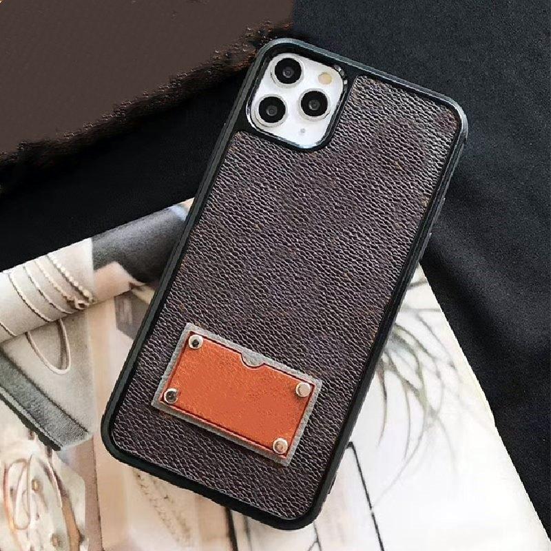 آيفون 12 برو 11pro ماكس xs xr xsmax الحالات الهاتف أعلى جودة ديلوكس الأزياء الجلود طباعة مصمم علامات غطاء الهاتف المحمول