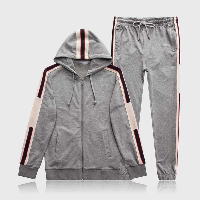 Erkekler Spor Spor ve Tişörtü Sonbahar Kış Jogger Spor Takım Elbise Mens Ter Suits Eşofman Seti Artı Boyutu M-2XL W336