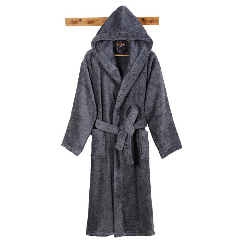 Men's Sleepwear Men Bathrobe Luxury Long Winter Robe Warm Plus Size Bath Soft Grid Towel Fleece Thermal Dressing Gown