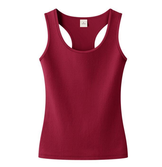 Sexy rote Womens Home Outdoor ärmelloses T-shirt Frauen S Kleidung Reine Farbe Tshirts 21SS Kleidung Tshirts 20ss