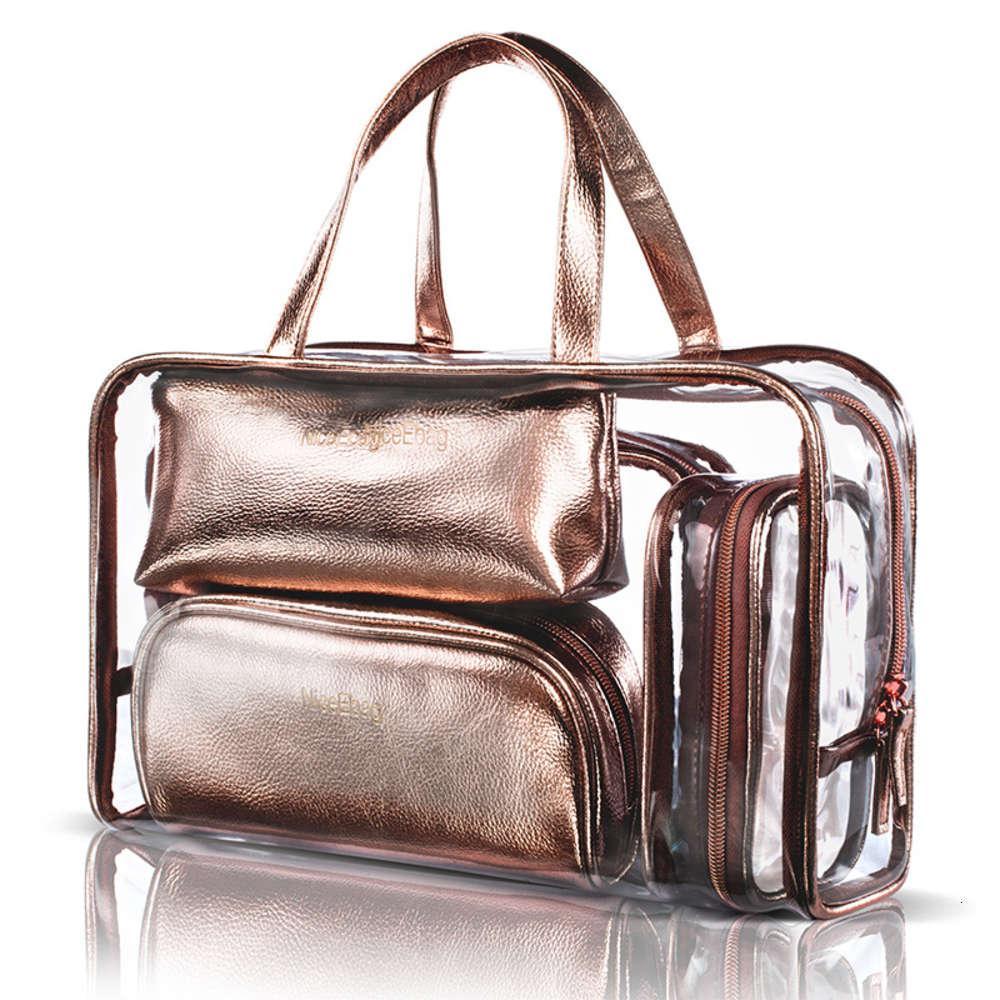 2021 Nuevo bolso portátil de gran capacidad de cinco piezas bolsa transparente de PVC de la moda coreana bolsa de mujeres