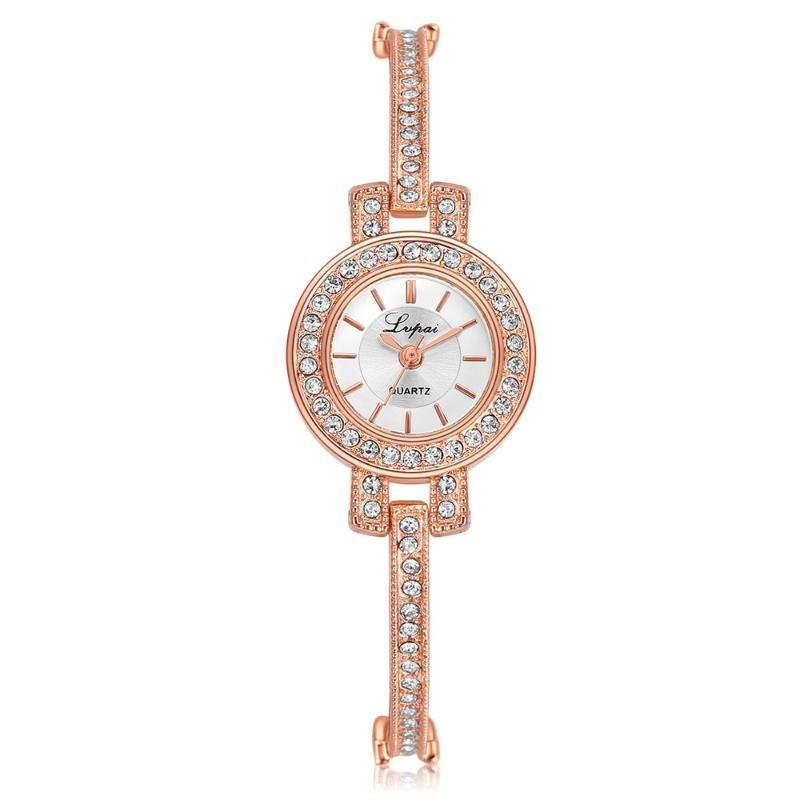 Bracelets Bracelet LVPAI Dames de luxe En acier inoxydable bracelet de montre de mode de mode Fashion Analog Quartz Party cadeau Relojes Para Mujer Y30