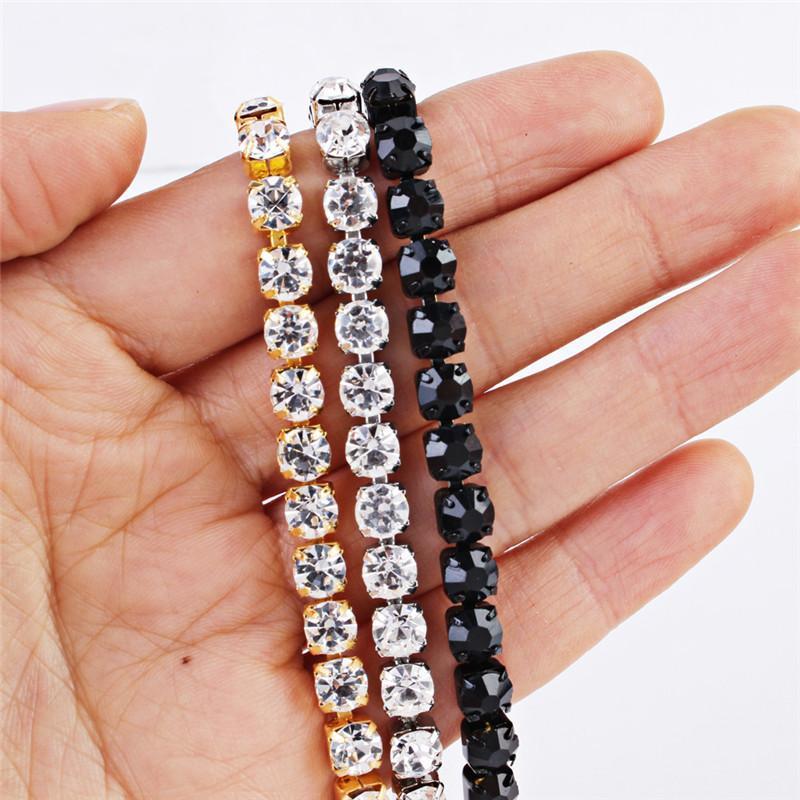 Bracelet Hip Hop Hommes Glafe Out Single CCHAIN Bling Tennis Charm Bracelets Zirconia Bracelets Link Bijoux de chaîne