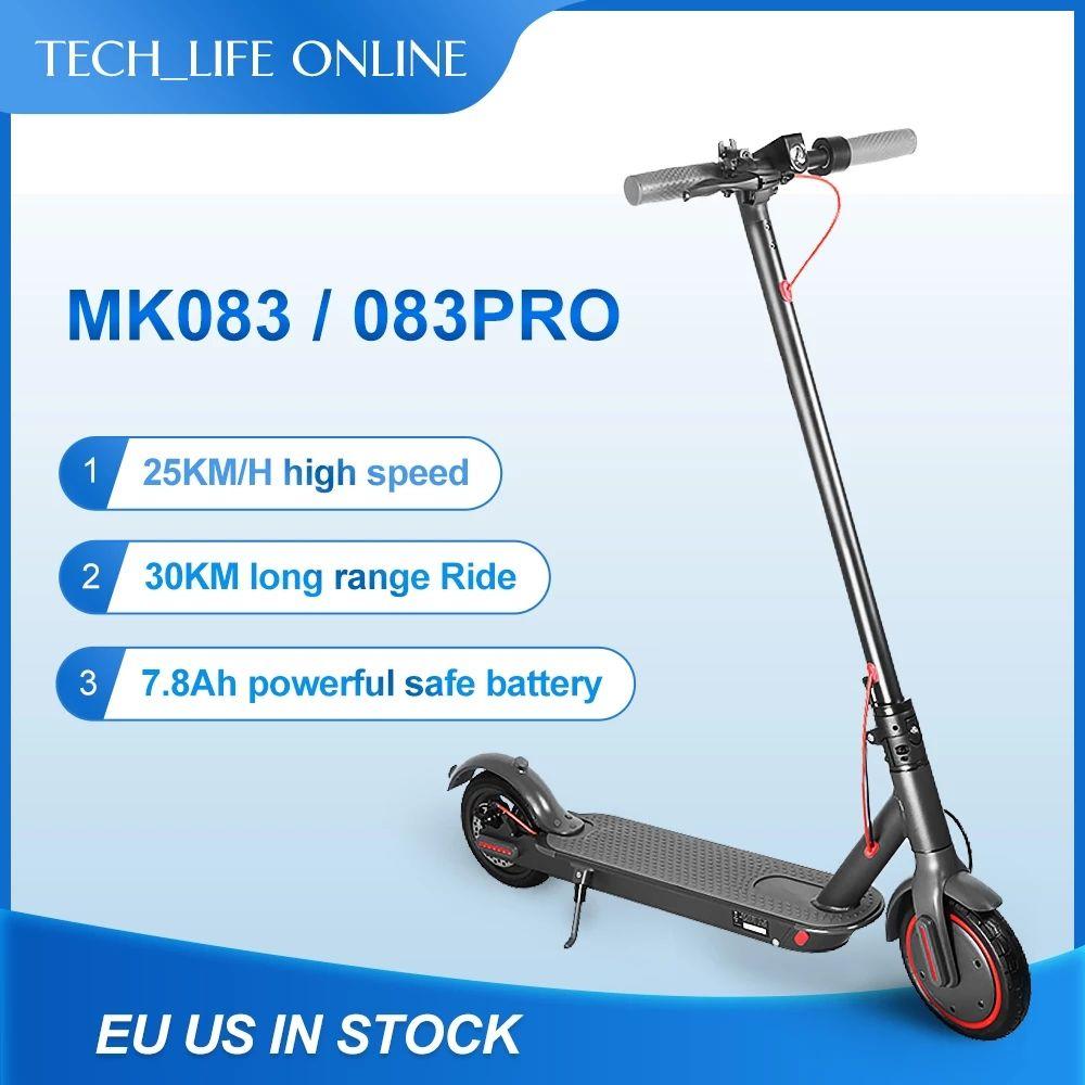 مانكيل للماء 350W سكوتر كهربائي طوي 2 عجلات 10.4AH / 7.8ah أطفال قابلة للطي ركلة e دراجة 8.5 بوصة الإطارات ecscooters MK083 / MK083 برو